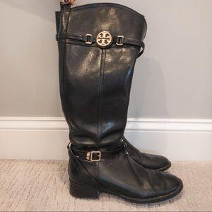 Tory Burch Calista Black Tall Riding Boot Size 8.5